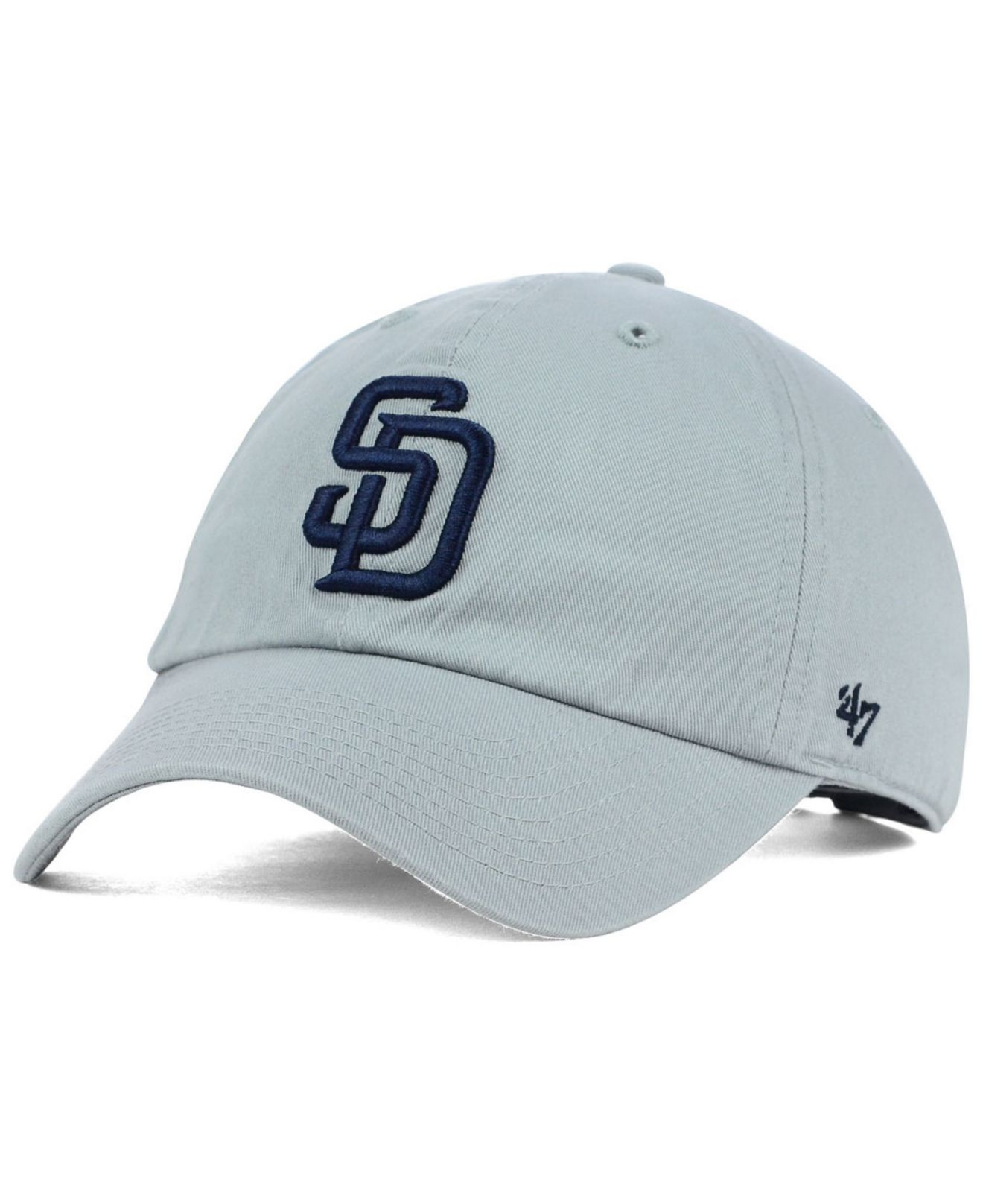 39711ce5c4191 ... cleanup hat 8c03a 56a96  purchase lyst 47 brand san diego padres  adjustable cap in gray for men 7765c 0037a