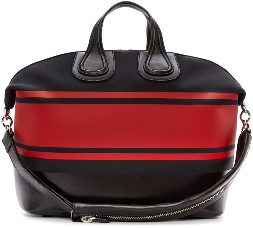 Lyst - Givenchy Black And Red Striped Neoprene Nightingale Tote in ... 1d52979ab73fa