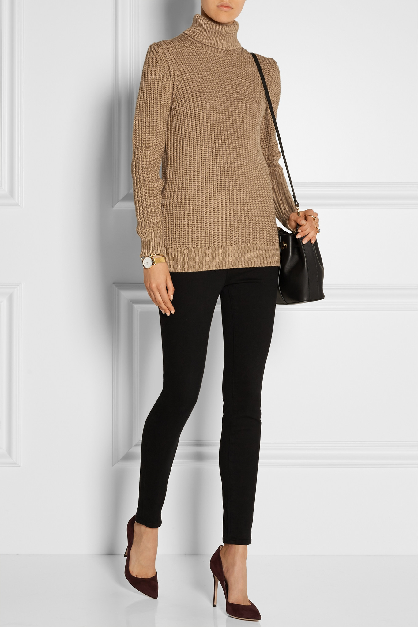 Michael Kors Chunky Knit Turtleneck Sweater In Natural Lyst