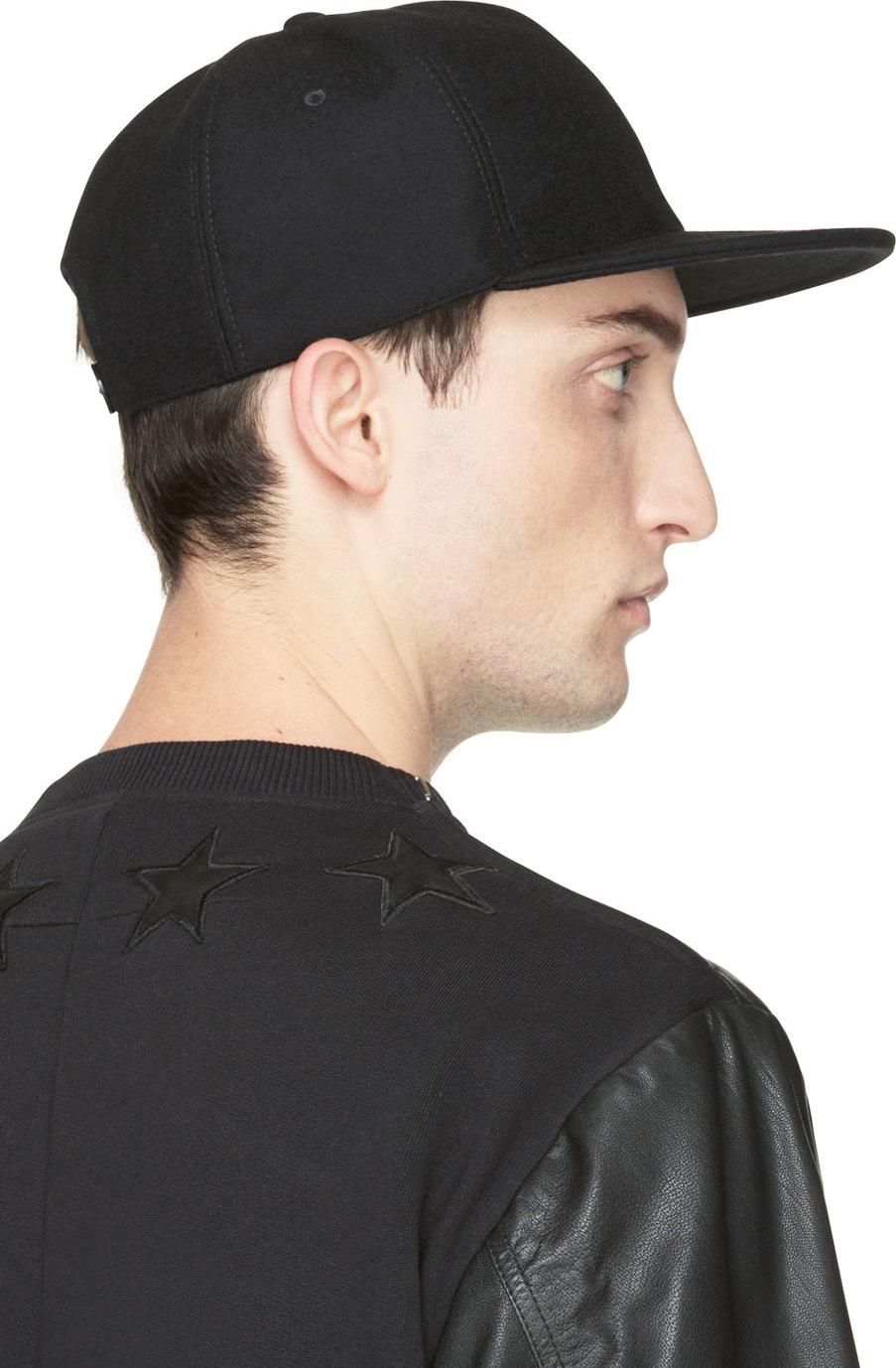 Lyst - Givenchy Black Wool Cap in Black for Men 0246b269f3c