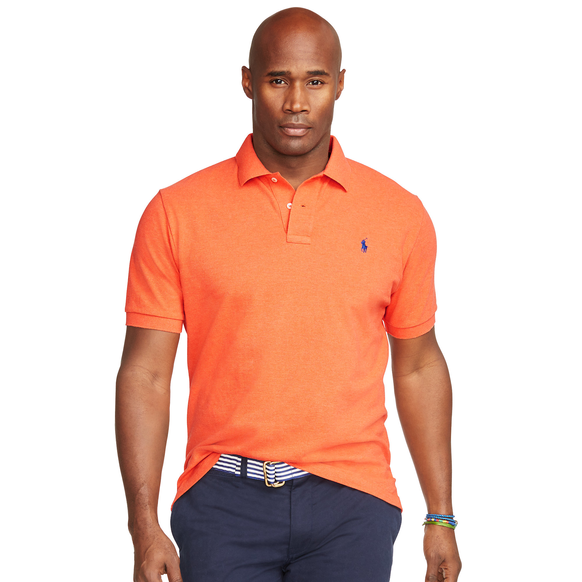 Pink Pony | Orange Classic-fit Mesh Polo Shirt for Men | Lyst. View Fullscreen