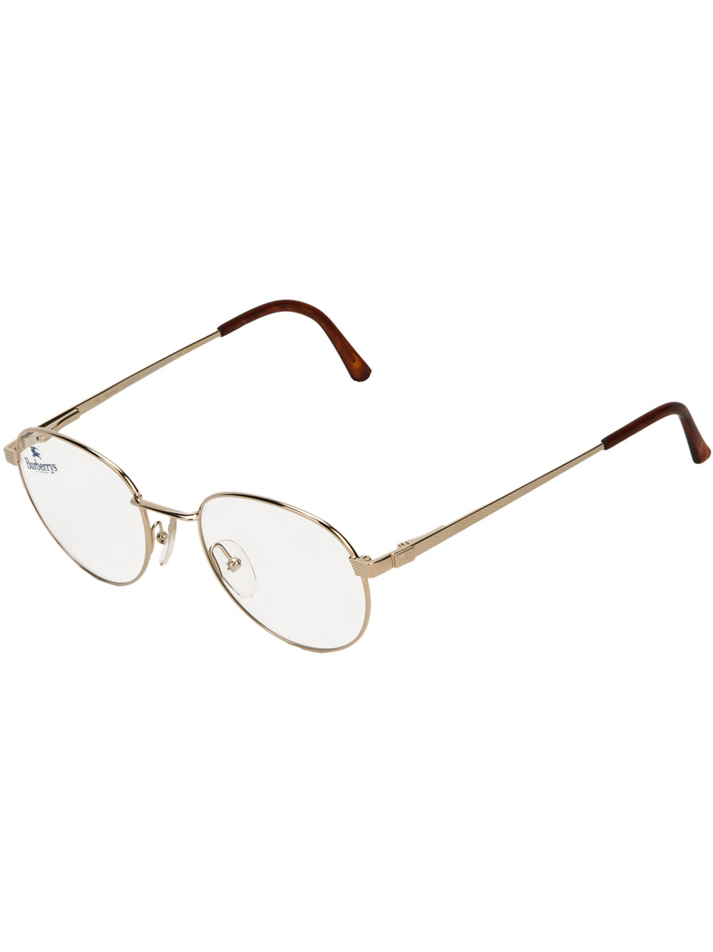 a5aecbea1e Lyst - Burberry Round Frame Glasses in Metallic for Men