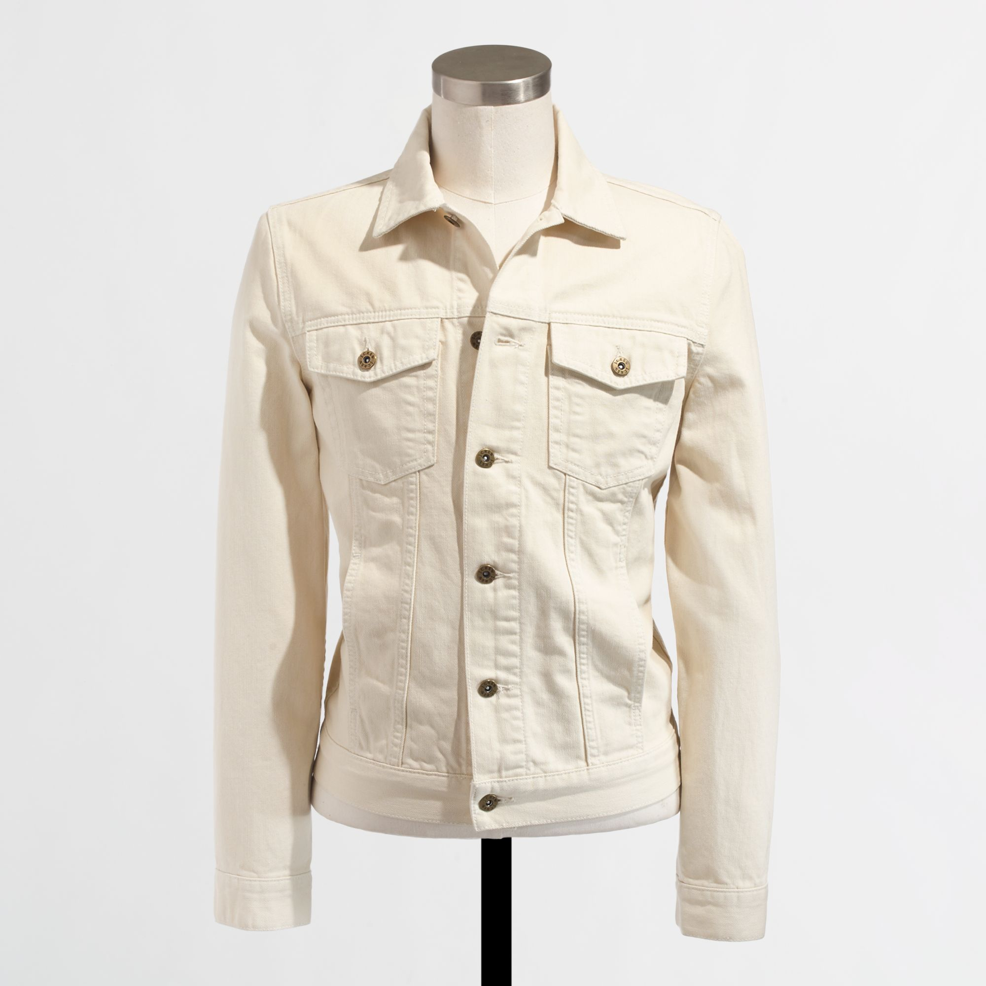 Lyst J Crew Factory Garmentdyed Denim Jacket In Natural