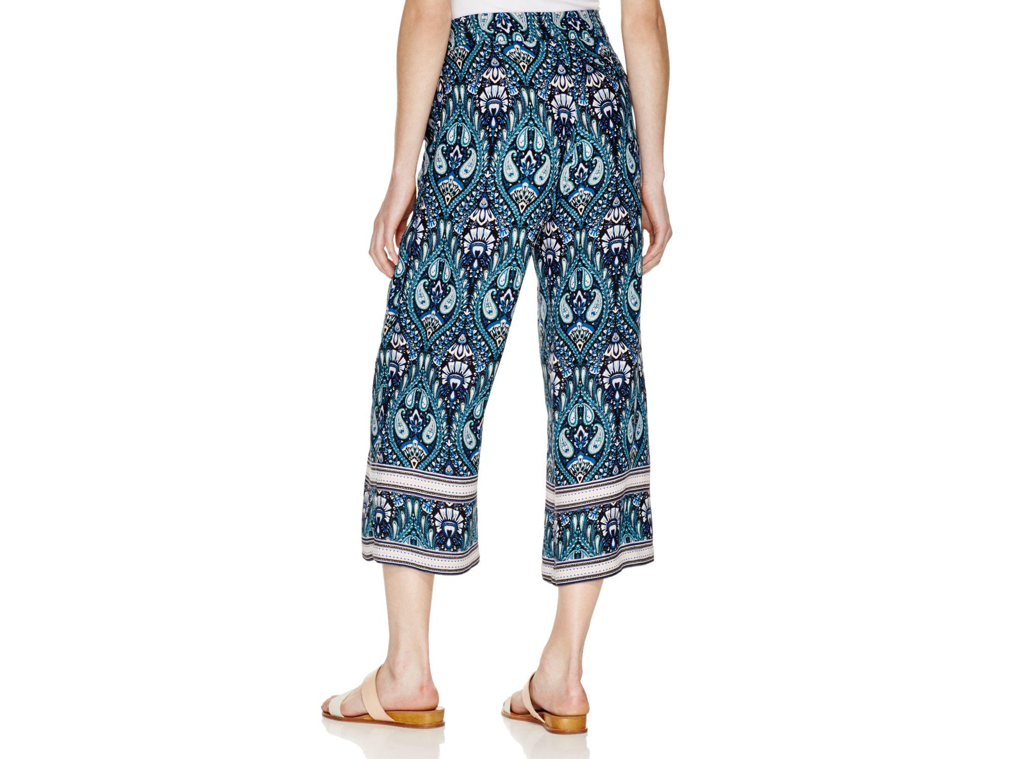 Ella moss Lorelei Printed Gaucho Pants in Blue | Lyst