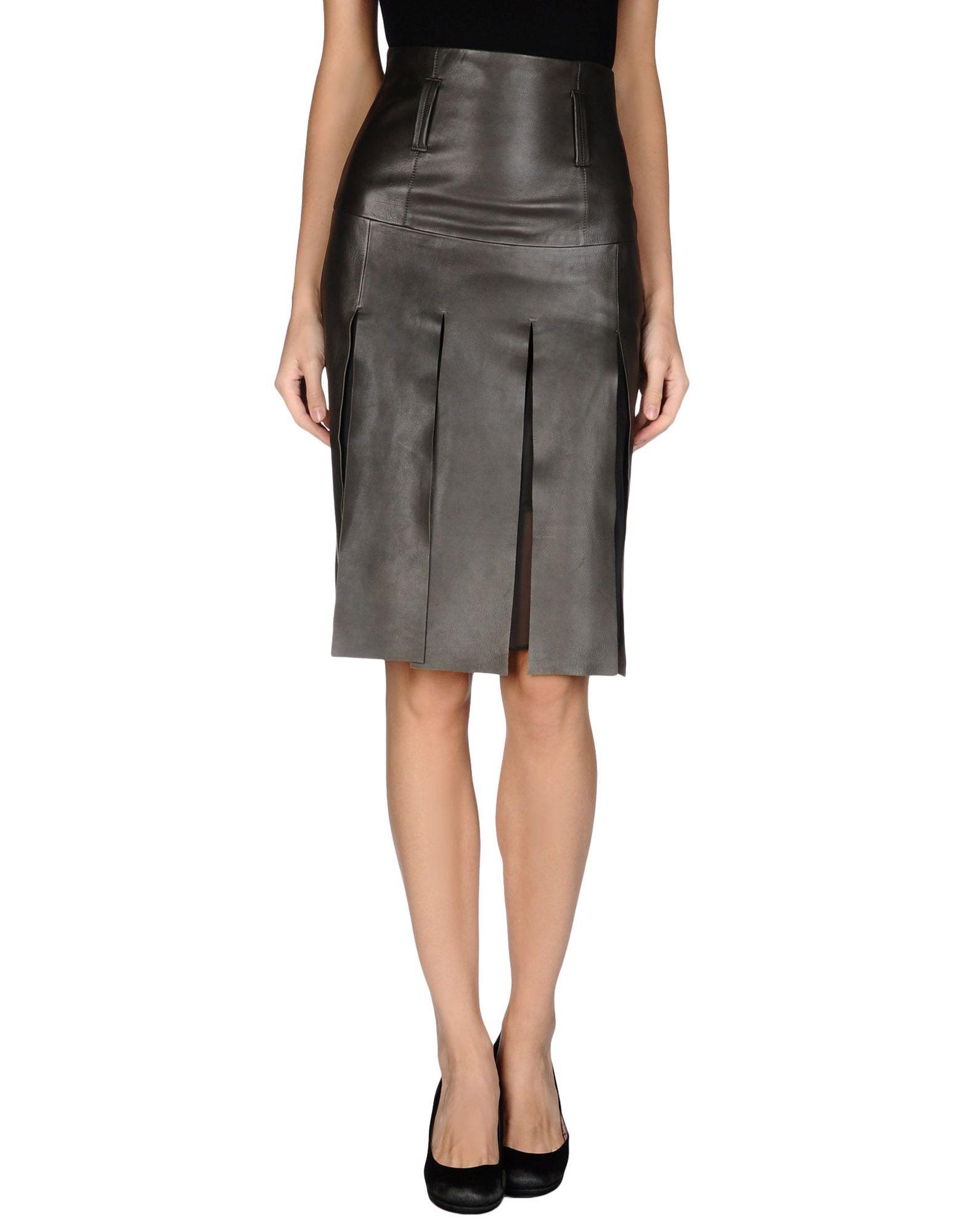 schumacher leather skirt in brown brown save 36