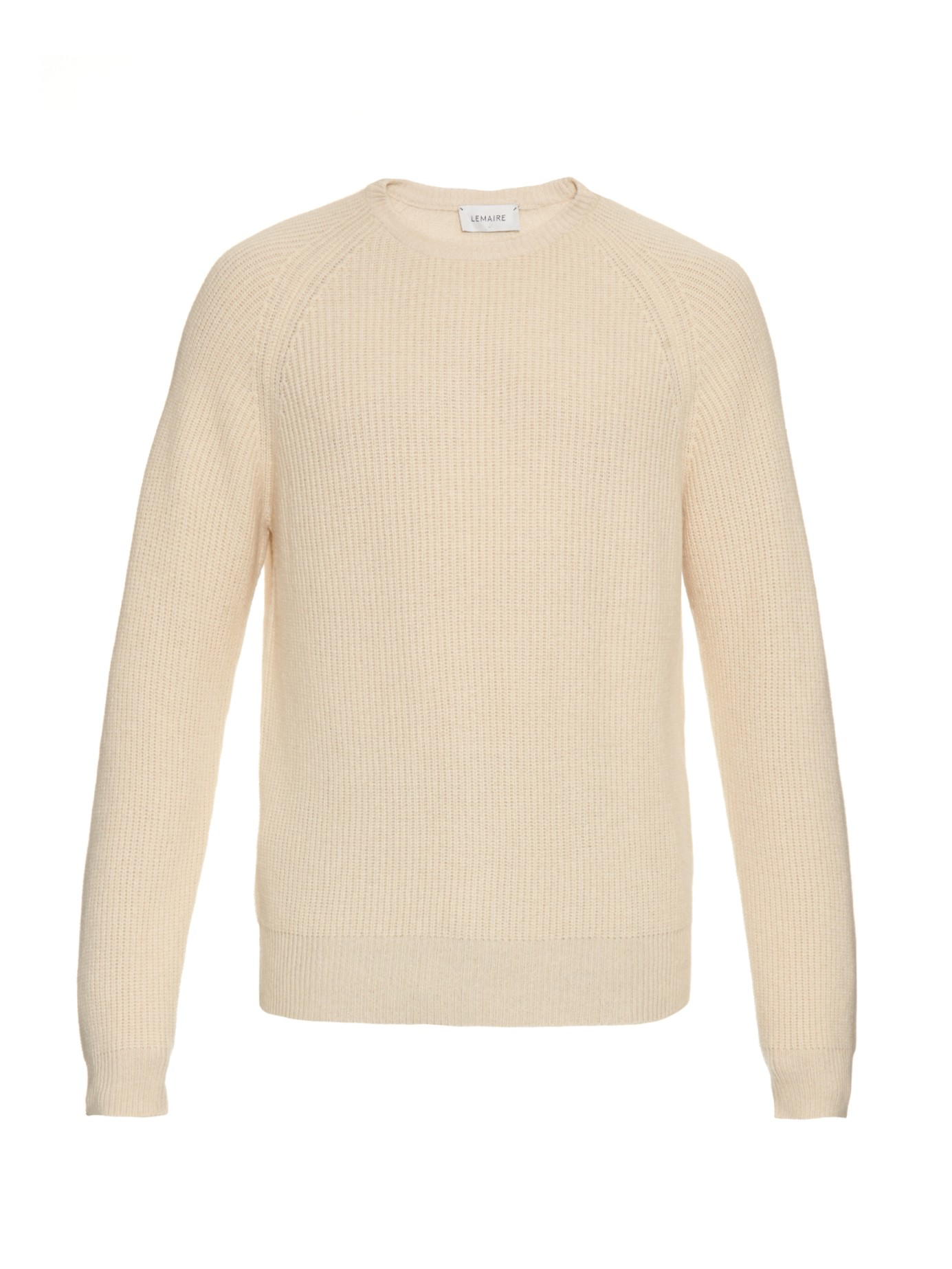 Lemaire Wool-blend Ribbed-knit Sweater in Natural for Men | Lyst