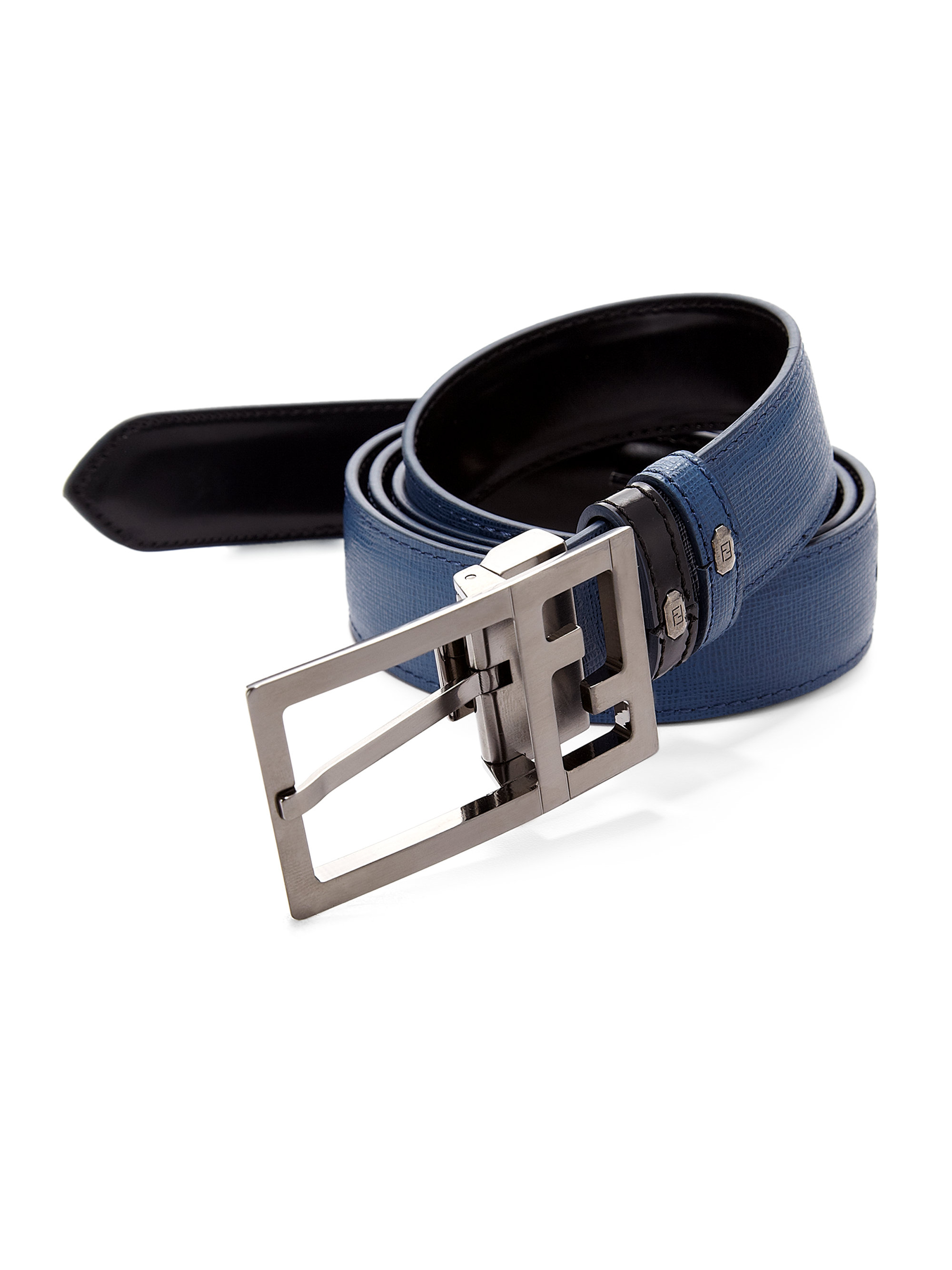 Fendi Elite Reversible Belt in Blue for Men | Lyst