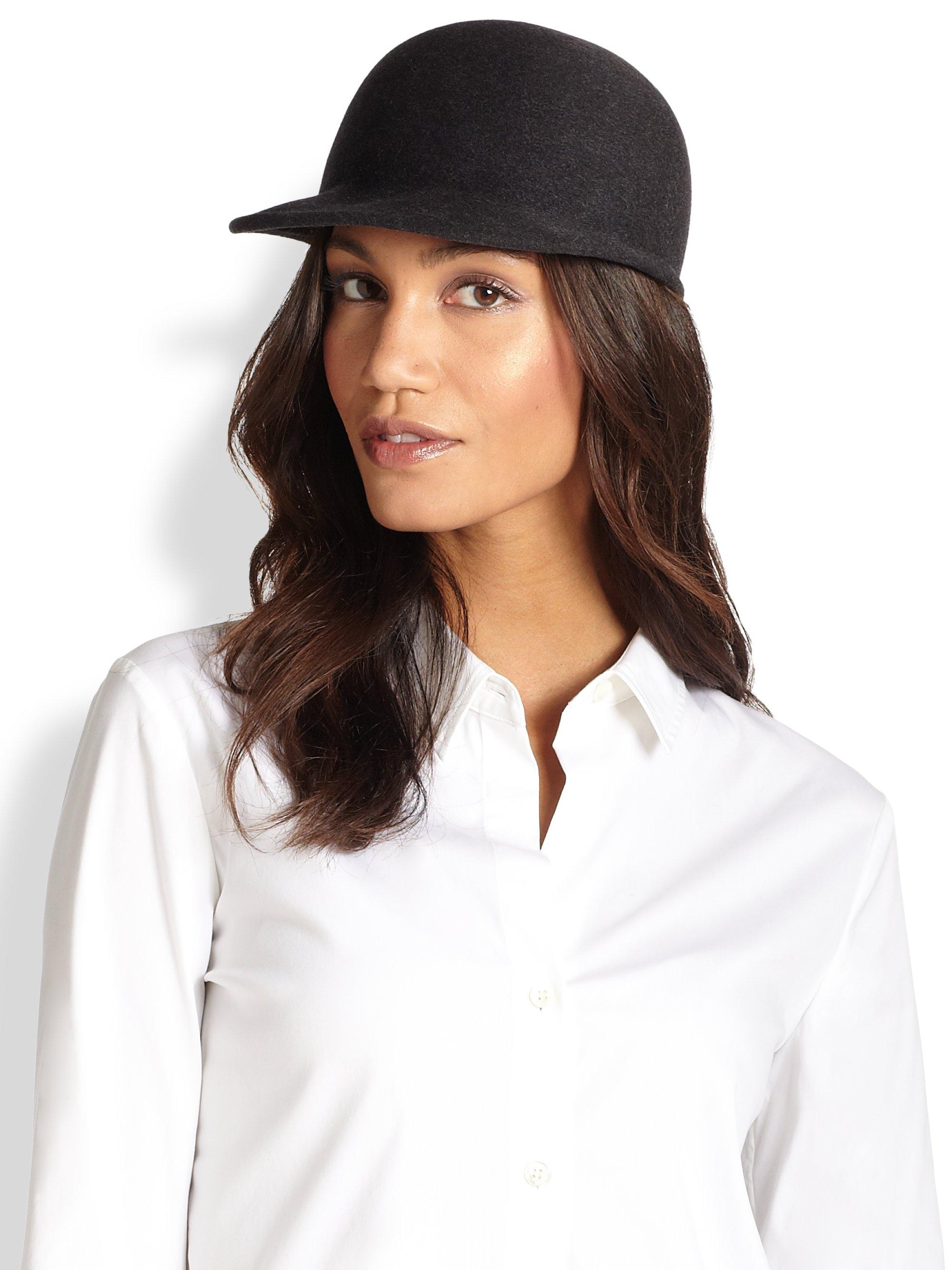 1106cc79bb584 Eugenia Kim Joey Wool Baseball Hat in Black - Lyst