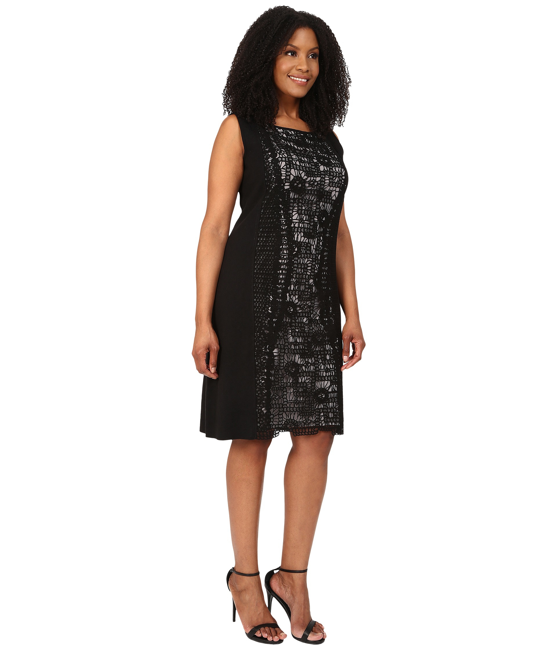 Lyst - NIC+ZOE Plus Size Layered Lace Dress in Black