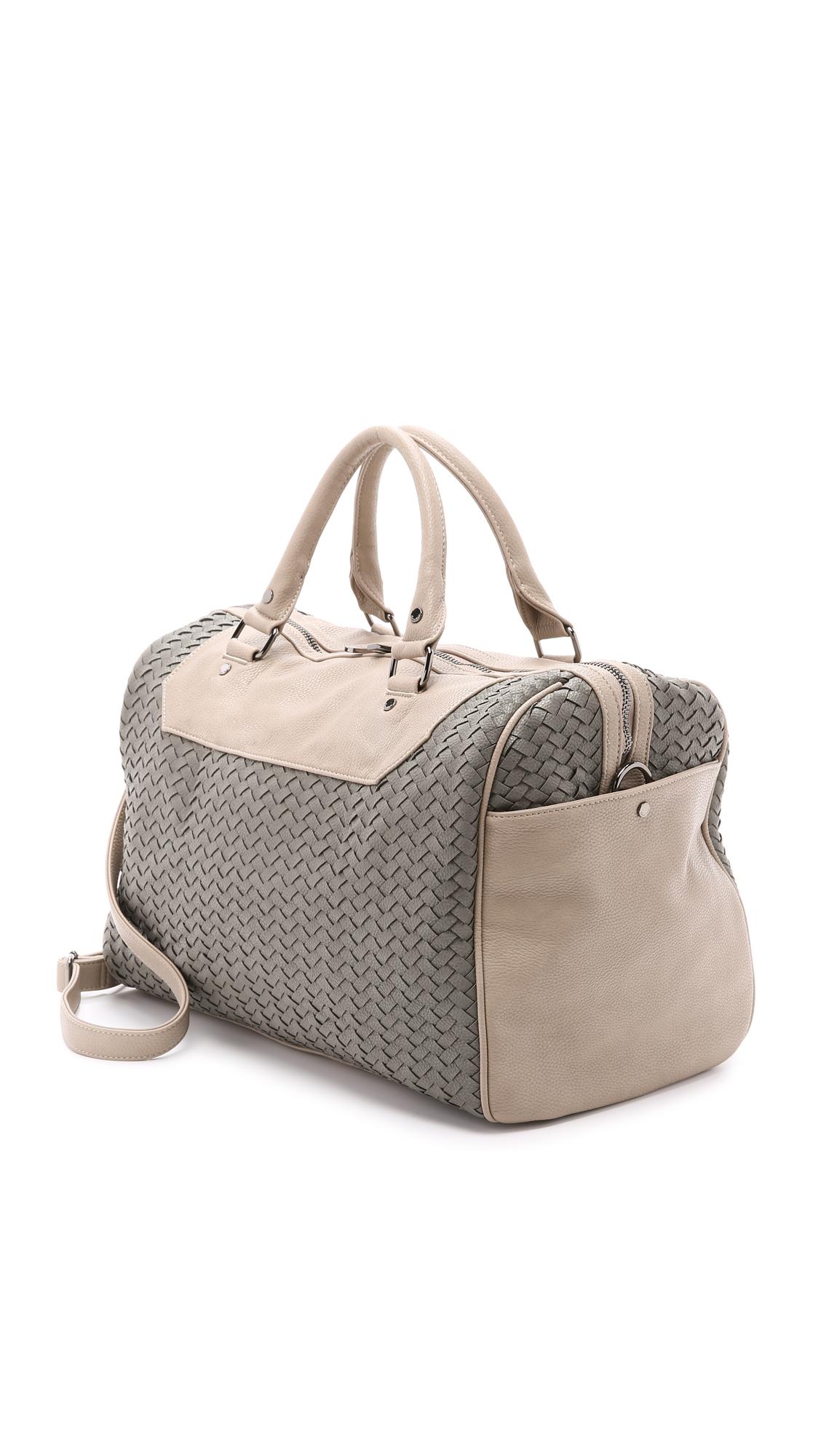 Deux Lux Lexington Weekender Bag Grey In Gray Lyst