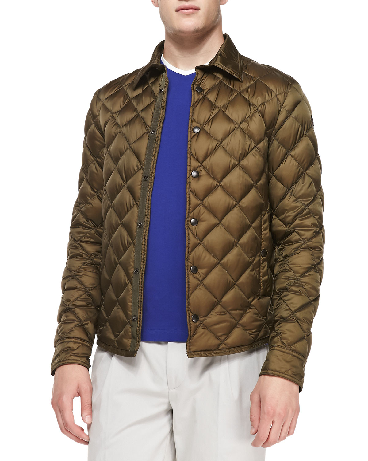 Lyst Moncler Frederic Diamond Quilted Jacket In Brown