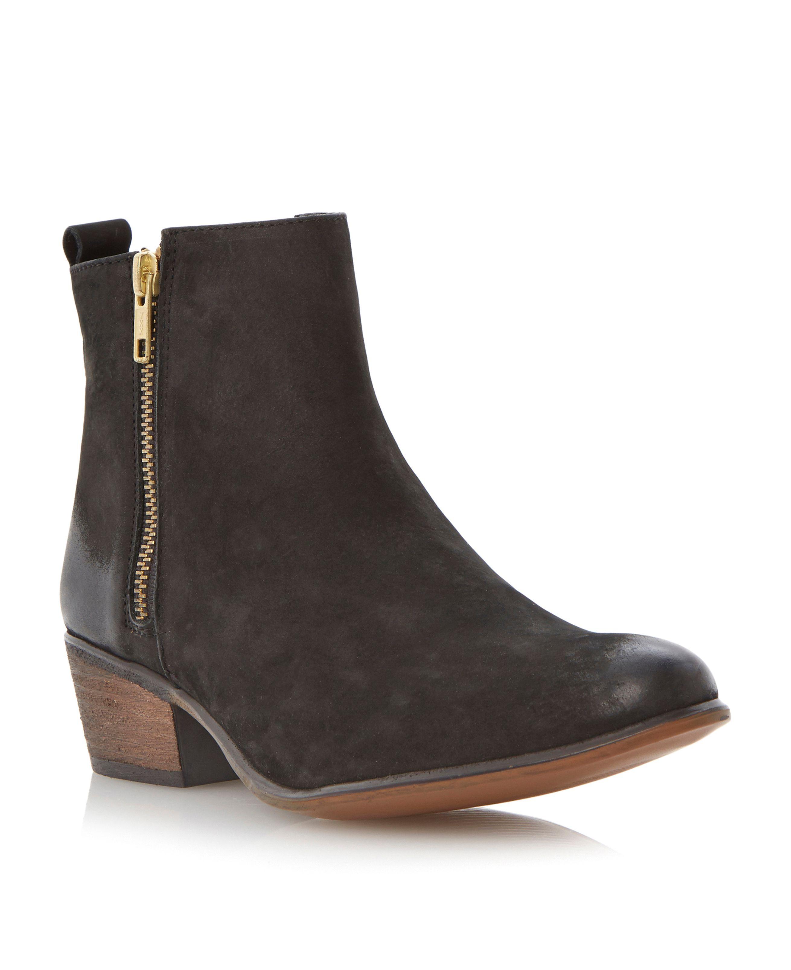 steve madden neovista zip detail ankle boots in black lyst