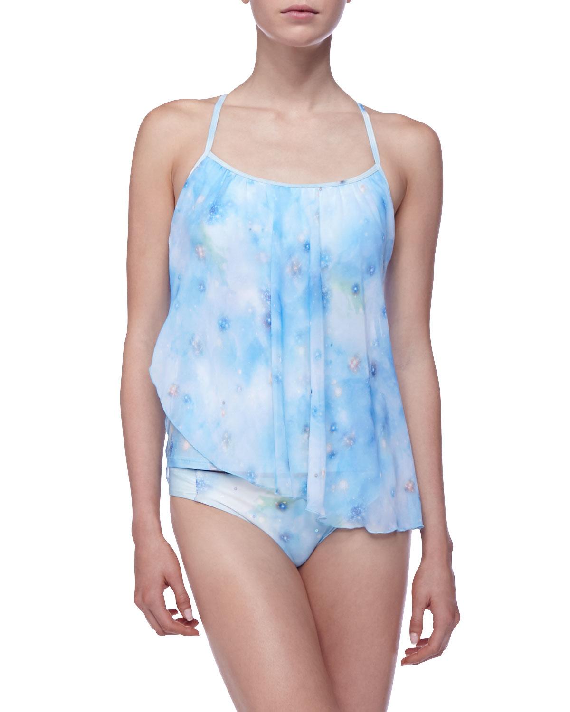 Luxe by lisa vogel Low-rise Swim Bottom in Blue
