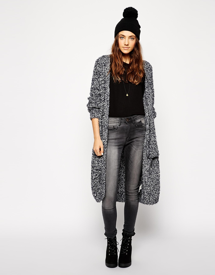 4051ef83768 Lyst - ASOS Short Turn Up Beanie With Pom in Black