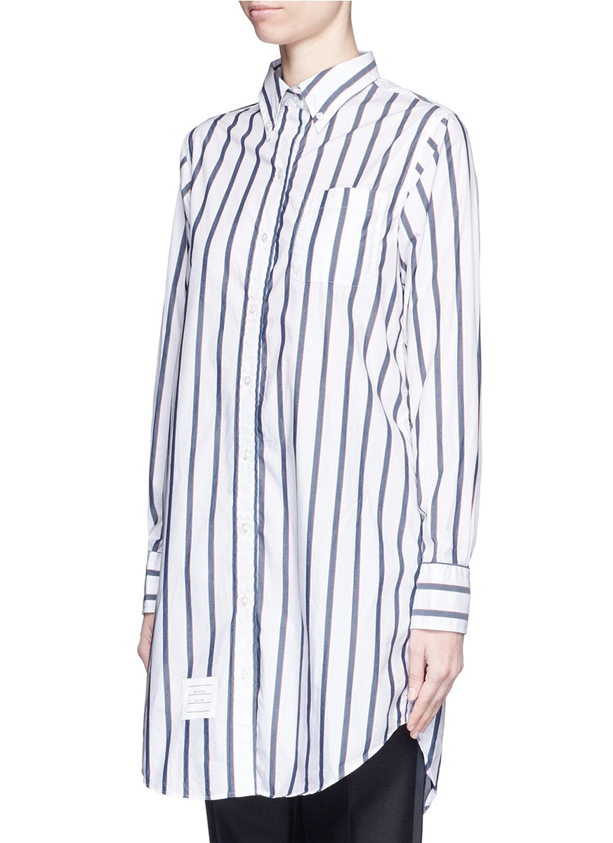 Cotton-poplin shirt dress Thom Browne Pay With Visa Free Shipping Big Sale Outlet Cheap Prices Outlet Free Shipping 8nrdSS