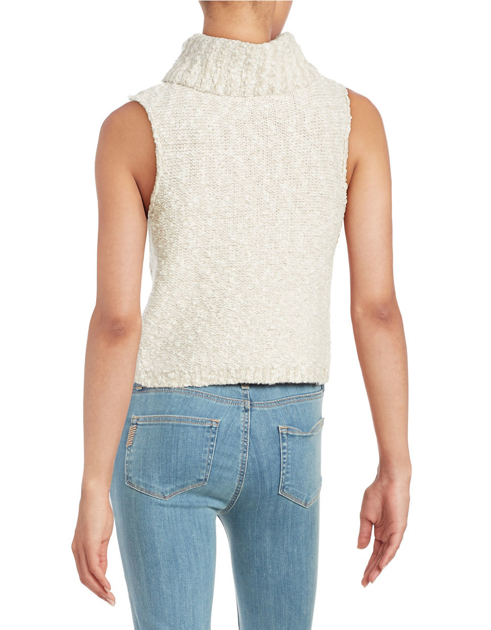 Free people Mockneck Sweater Vest in Blue | Lyst