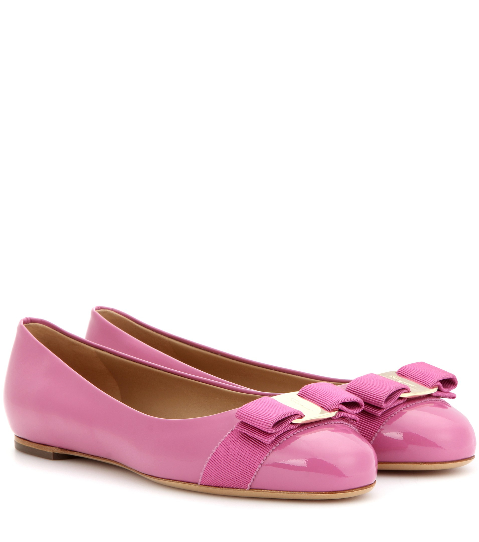 Pink Patent Leather Oxford Shoes