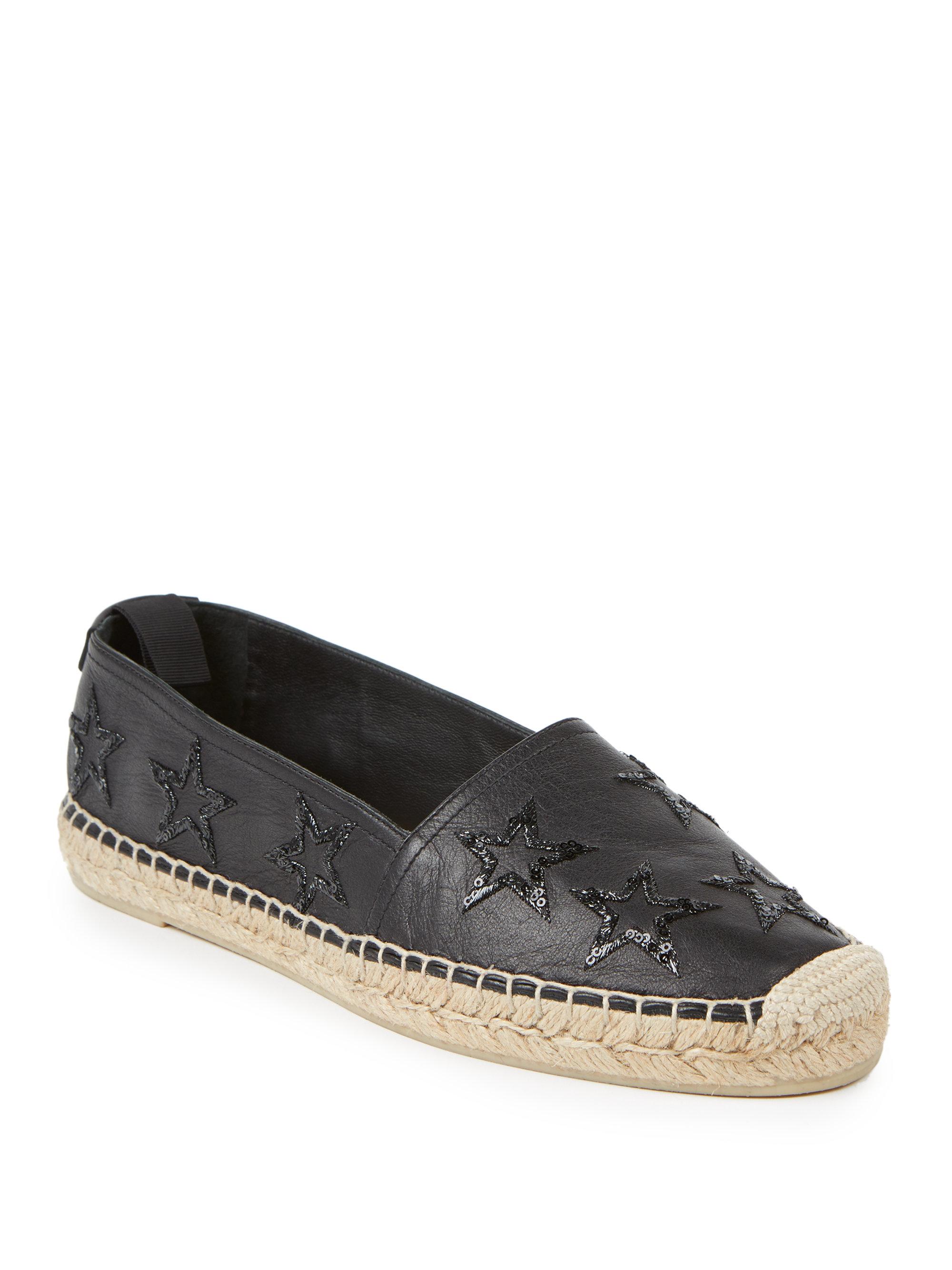 embroidered lace-up espadrilles - Black Saint Laurent O6JYchDIl