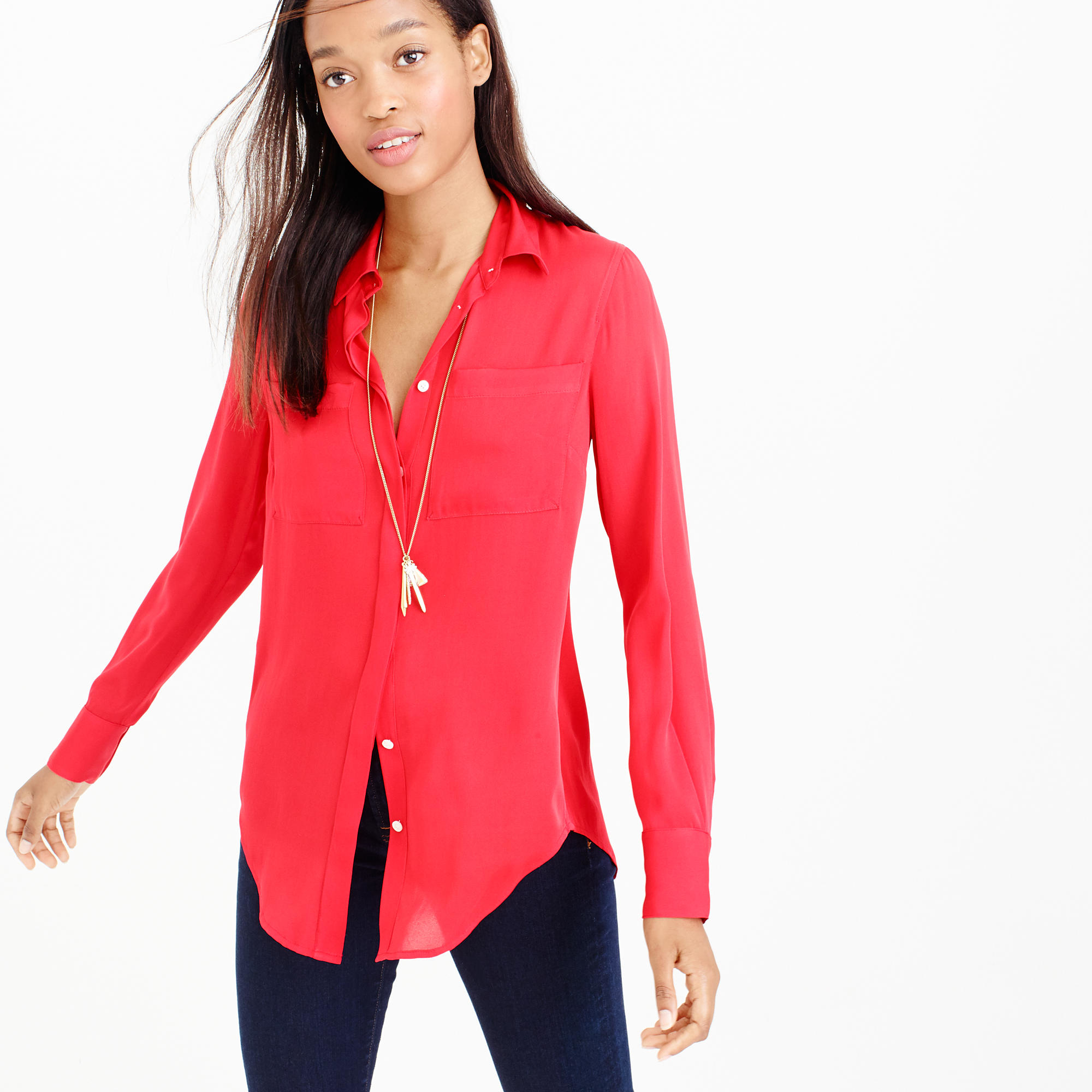 Silk Blouse Red 71