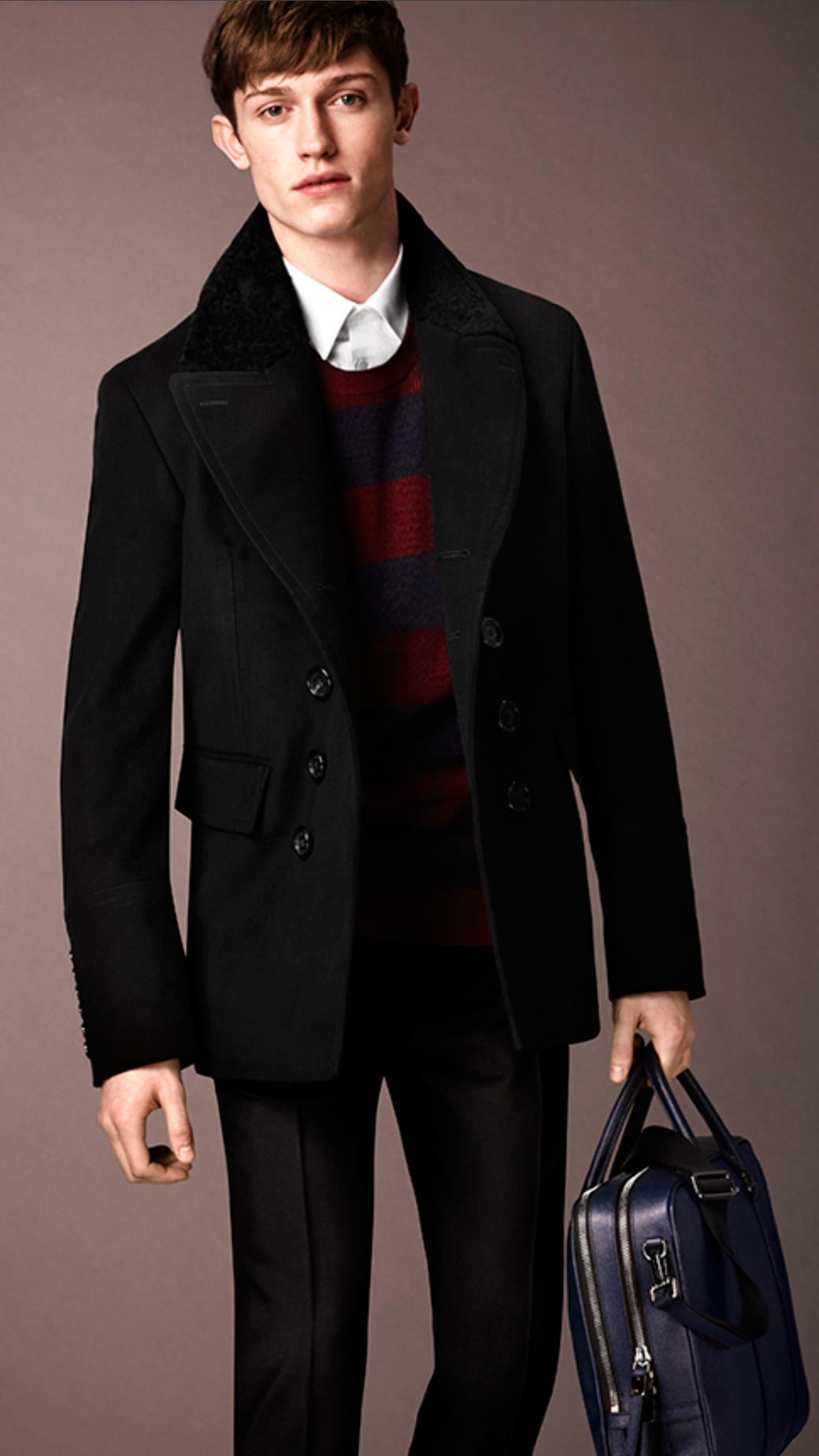 Images of Pea Coat Burberry - Watch Out, There's a Clothes About