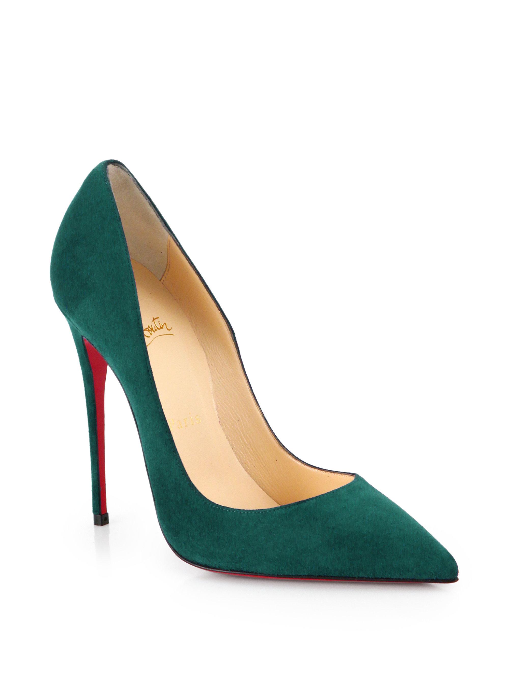 christian louboutin emerald green pumps