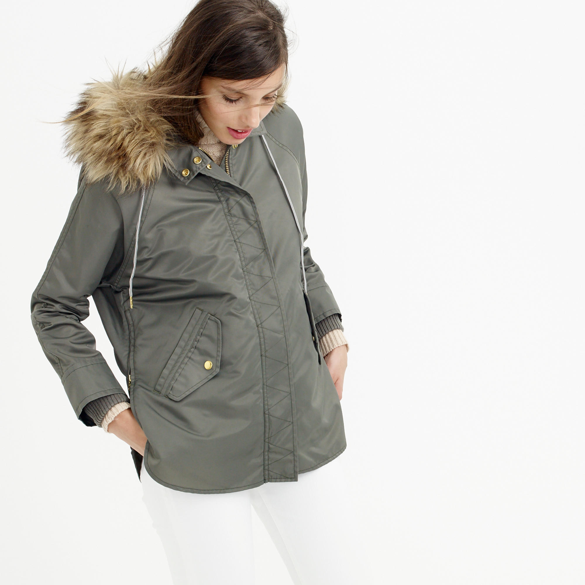 c5af65441 Lyst - J.Crew Collection Nylon Parka With Removable Liner in Green