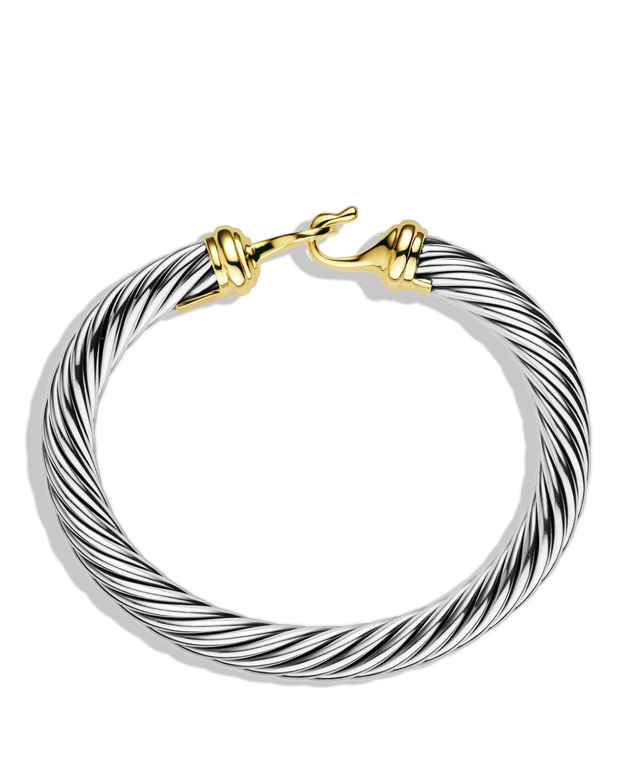 David Yurman Cable Buckle Bracelet With Gold In Metallic