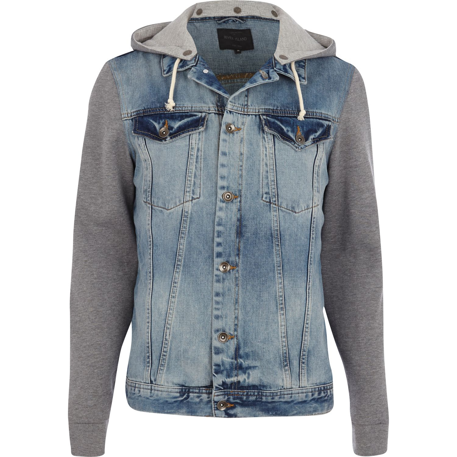 Free shipping BOTH ways on denim jacket with jersey sleeve, from our vast selection of styles. Fast delivery, and 24/7/ real-person service with a smile. Click or call