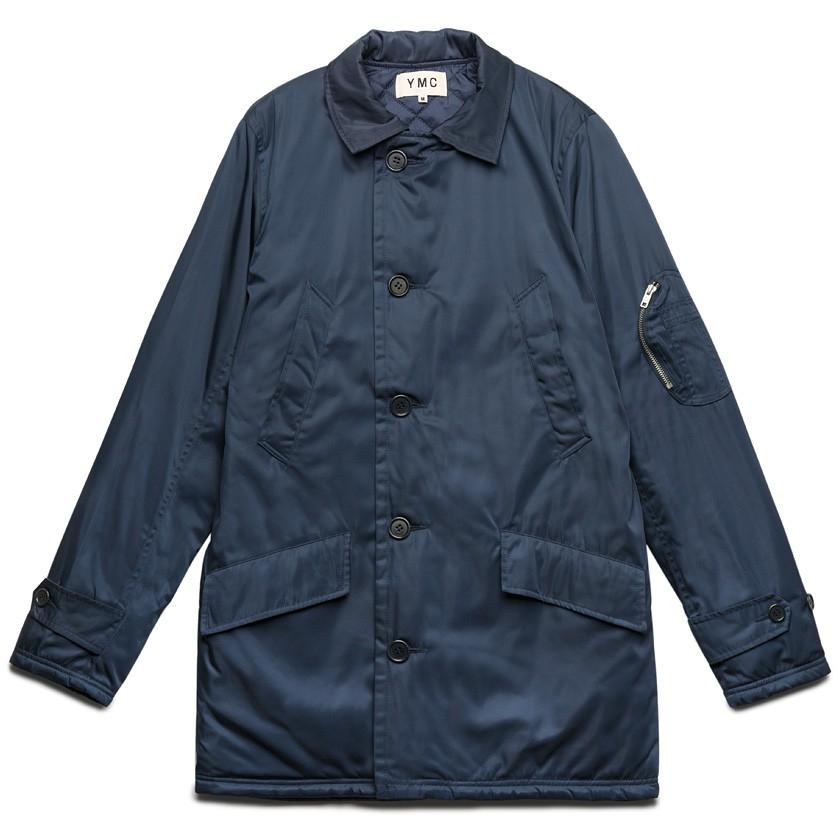 Ymc Navy Ma1 Coat in Blue for Men | Lyst