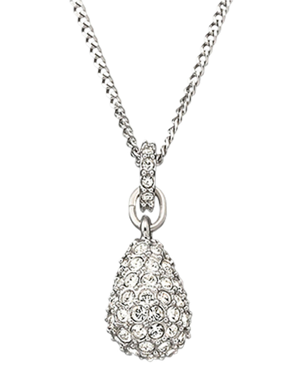 Lyst Swarovski Heloise Crystal Pendant Necklace In Metallic