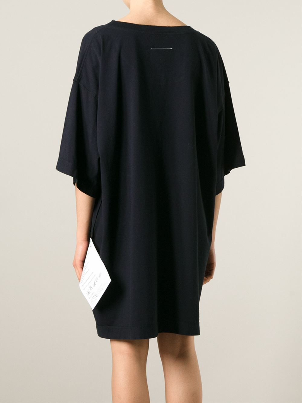 Lyst mm6 by maison martin margiela oversized t shirt for Mm6 maison margiela