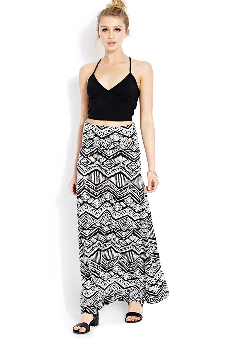 9d0caceff Black And White Striped Maxi Skirt Forever 21   Huston Fislar ...