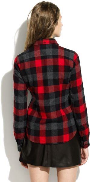 Madewell Penfield Chatham Buffalo Plaid Flannel In Red