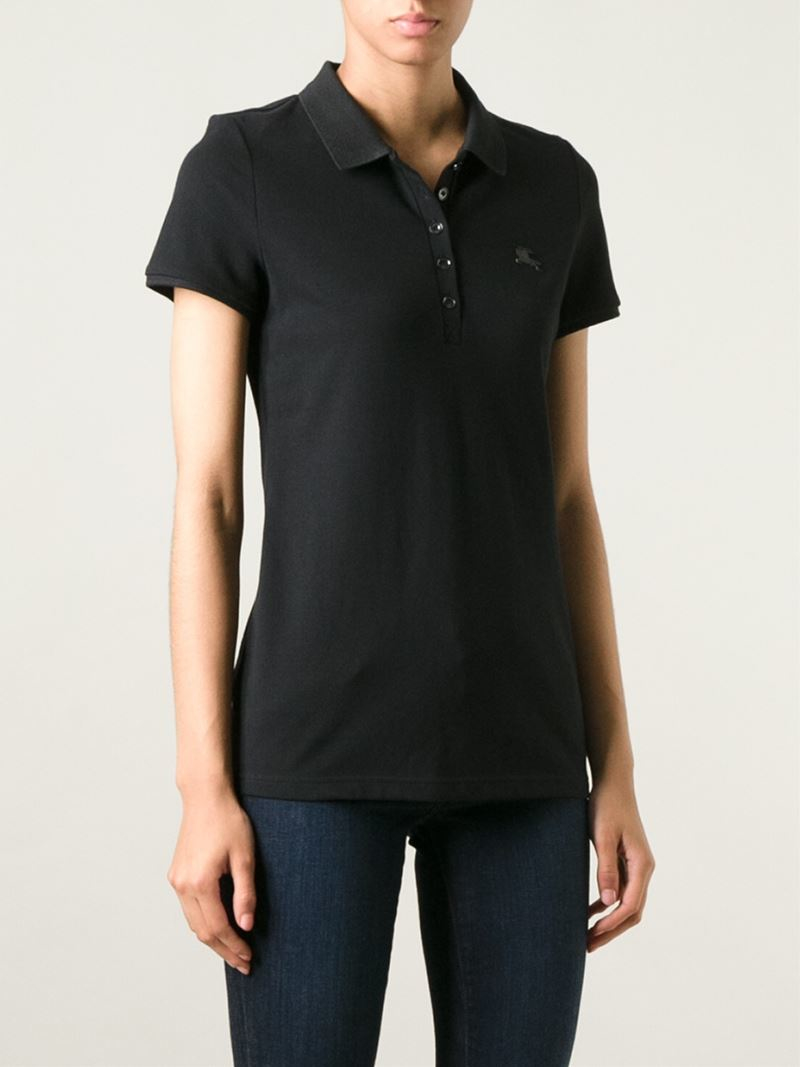 Burberry Brit Classic Polo Shirt In Black Lyst