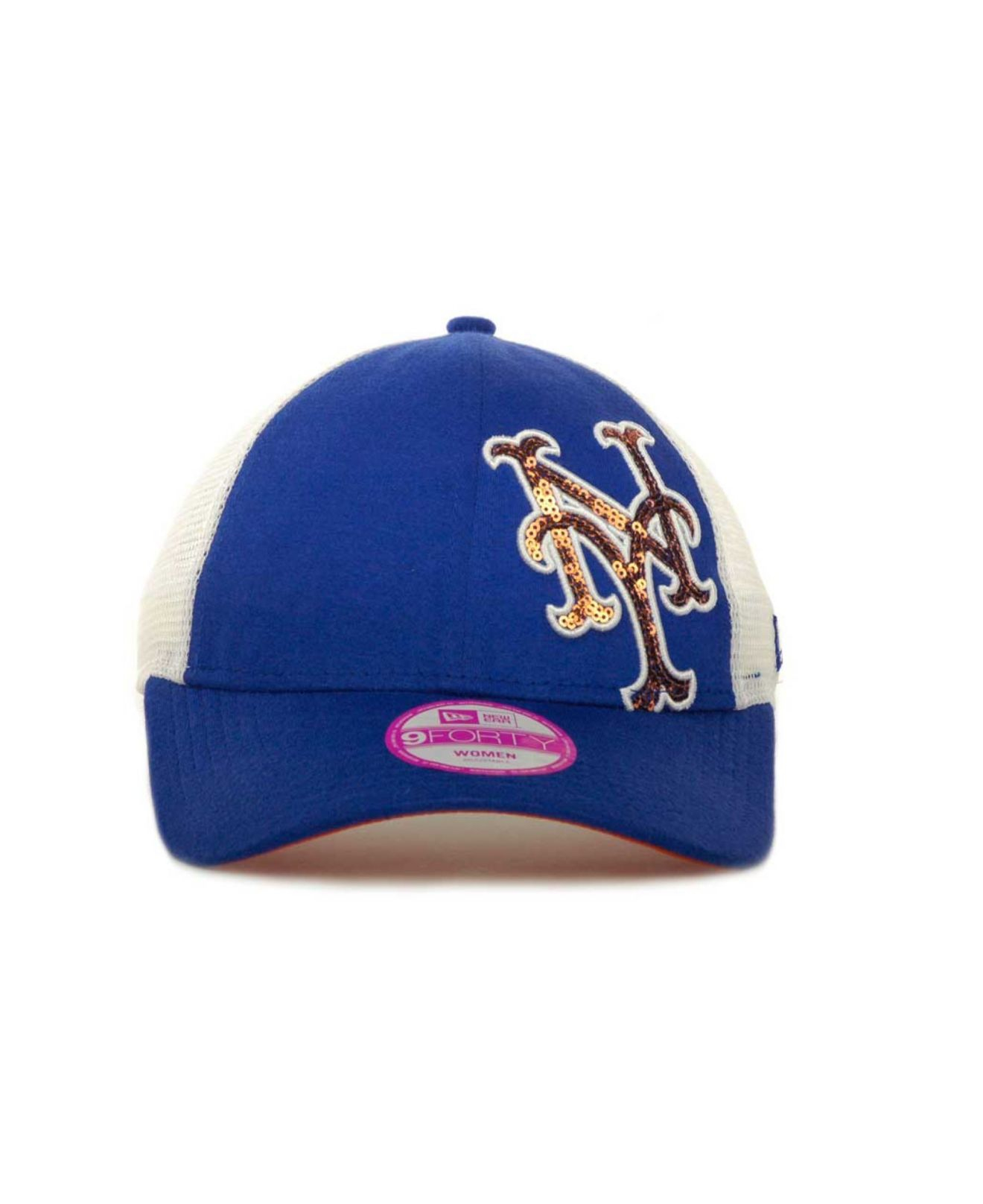 Lyst - KTZ Womens New York Mets Mlb Sequin Shimmer 9forty Cap in Blue 3a045dfa3b