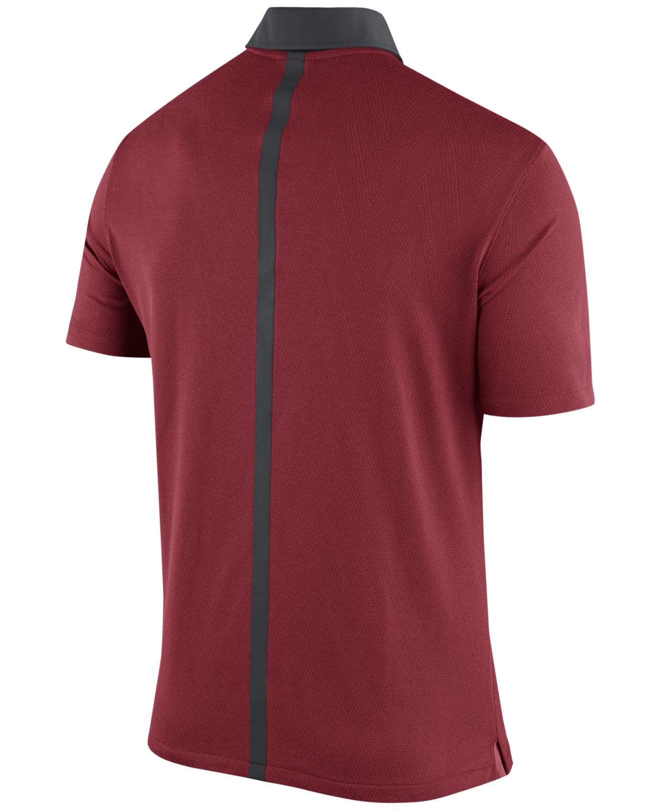 Nike men 39 s alabama crimson tide elite coaches polo in red for Alabama crimson tide polo shirts