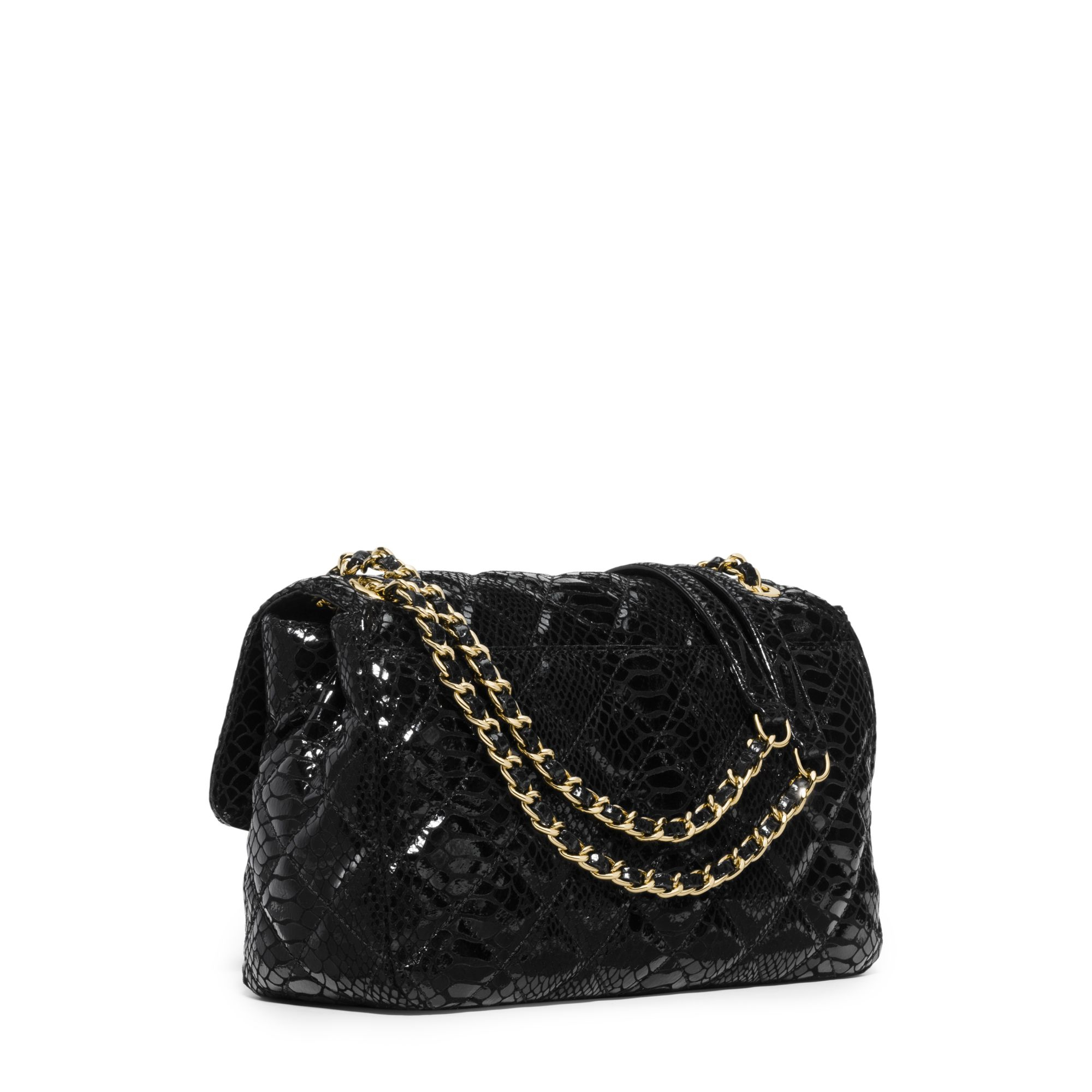 41bc9fb114d7 Lyst - Michael Kors Sloan Large Embossed Patent-leather Crossbody in Black