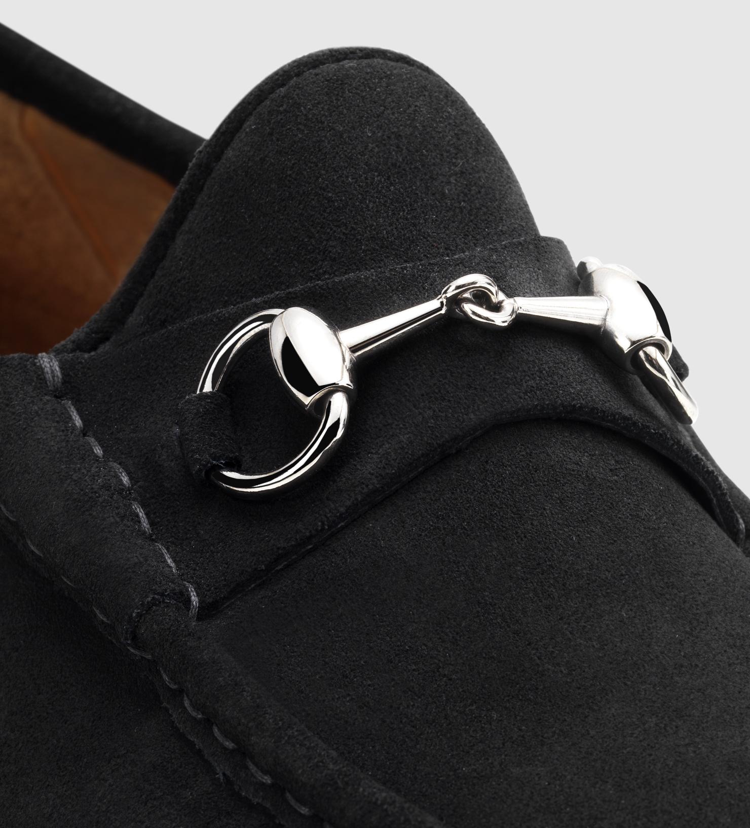 d4de6d81a Gucci Men's Horsebit Loafer In Black Suede in Black for Men - Lyst