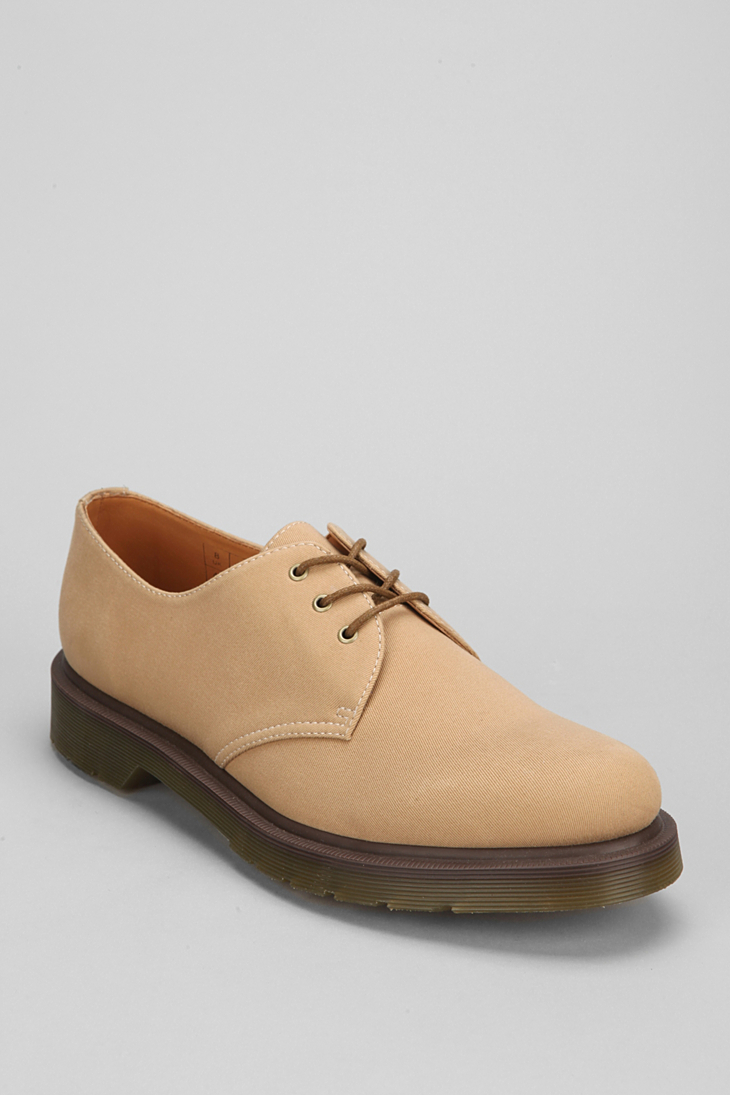 Drmartens Brown Twill Shoes