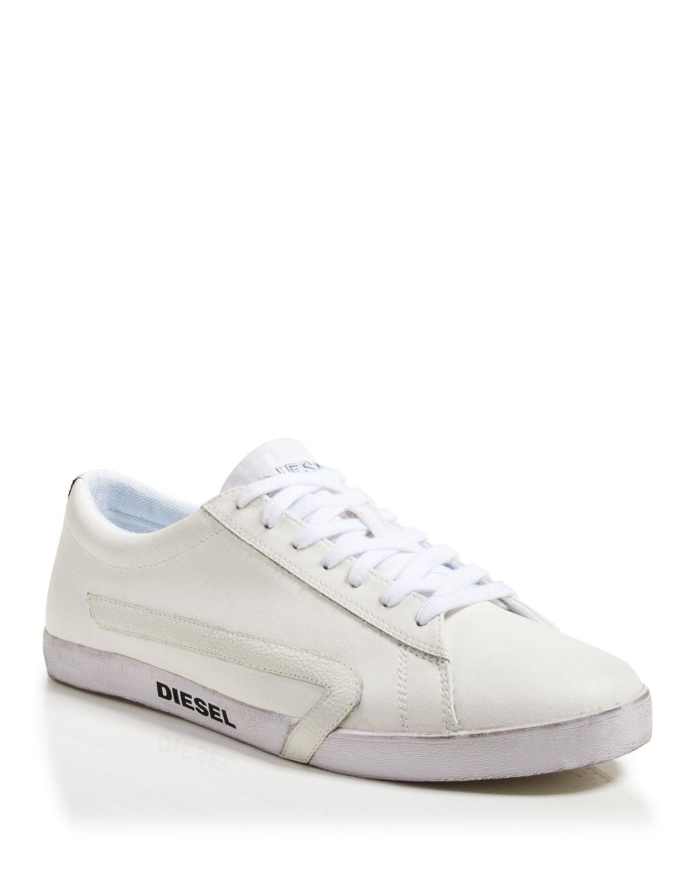 lyst diesel rikklub bikkren sneakers in white for men