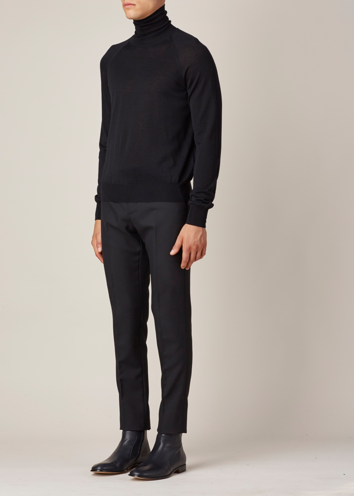 lyst jil sander black turtleneck in black for men. Black Bedroom Furniture Sets. Home Design Ideas