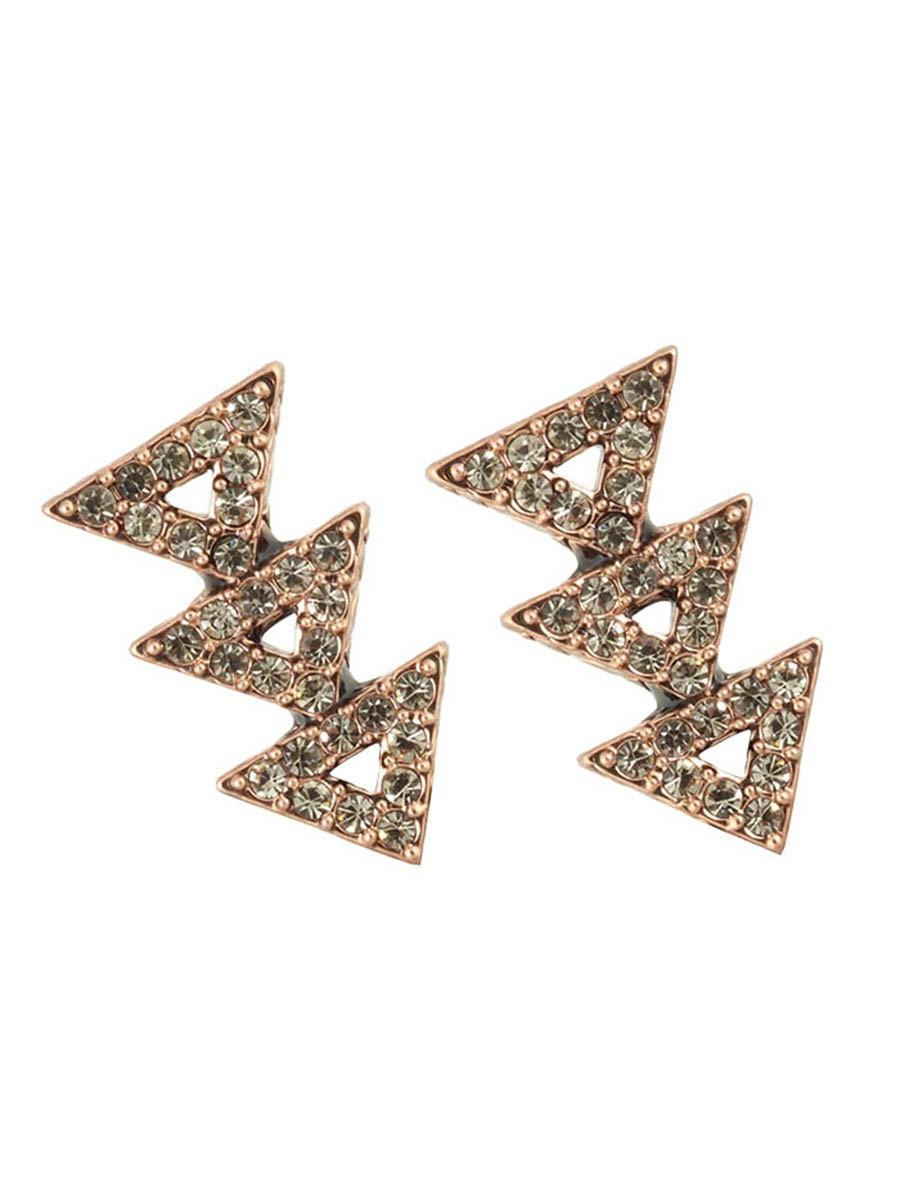 house of harlow 1960 tessellation earrings in metallic lyst
