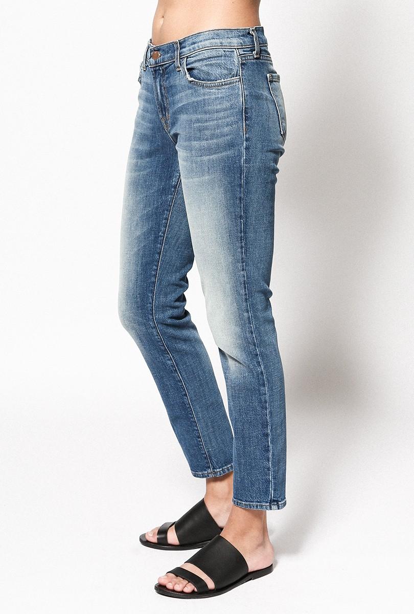j brand cropped ellis skinny jean in blue lyst. Black Bedroom Furniture Sets. Home Design Ideas