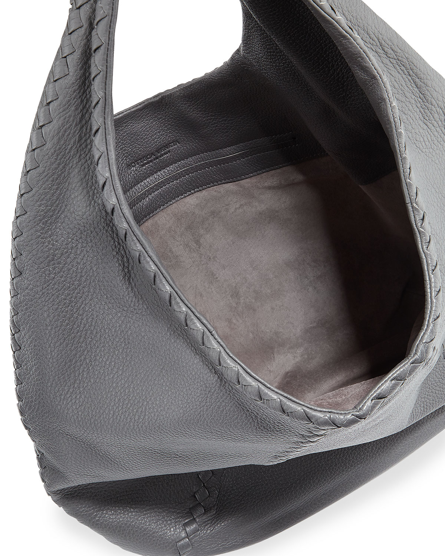 2f901b2aa0 Lyst - Bottega Veneta Cervo Large Hobo Bag in Gray