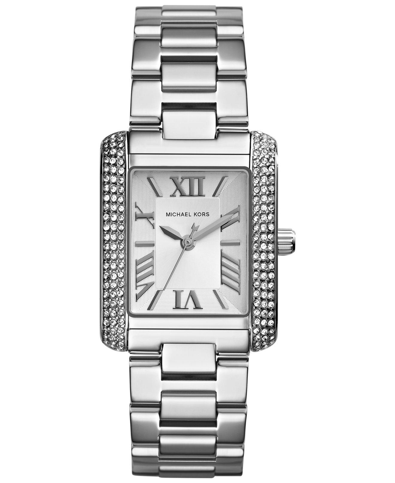 c4cafe56c781 Lyst - Michael Kors Women S Mini Emery Stainless Steel Bracelet ...