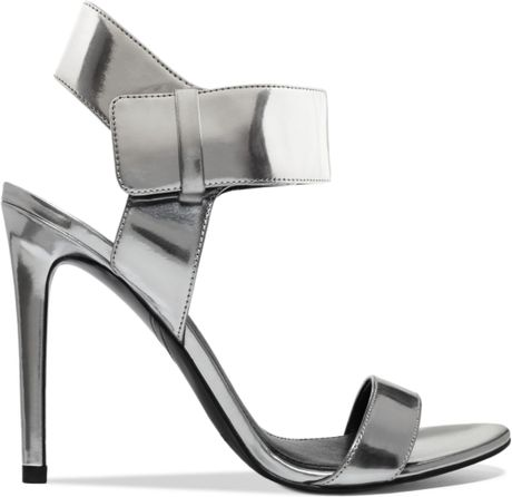 Silver Metallic Sandals Evening Sandals in Silver