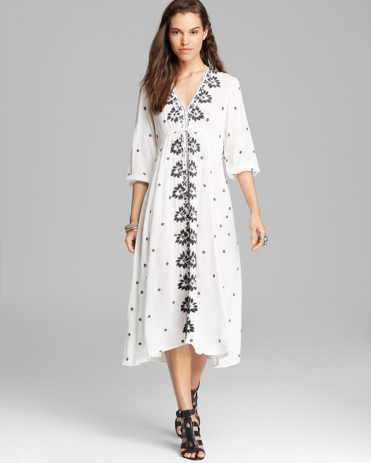 Lyst - Free People Dress Embroidered in White e04f765620