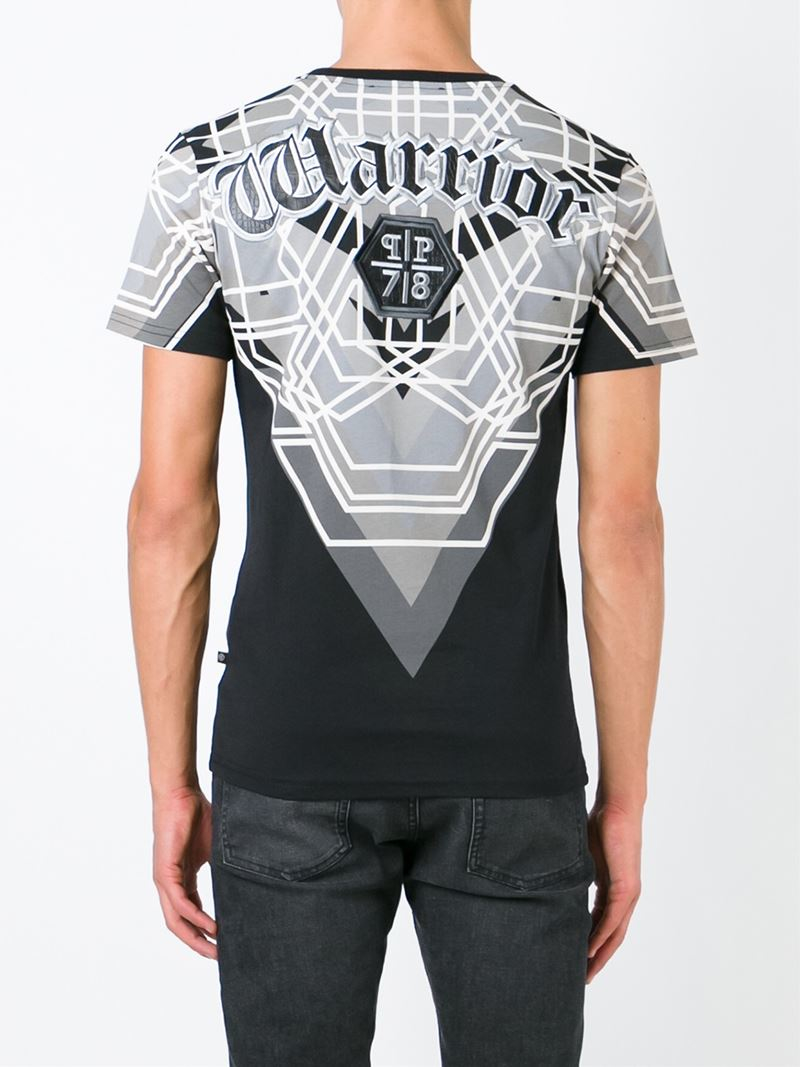 Lyst Philipp Plein Warrior T Shirt In Black For Men