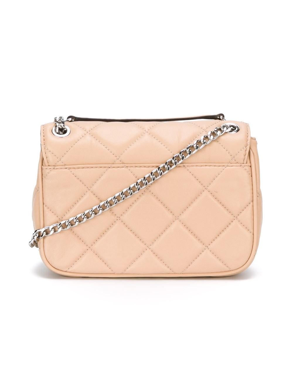 df536cdff76 ... best lyst michael michael kors small sloan crossbody bag in natural  aa3ce 233bd