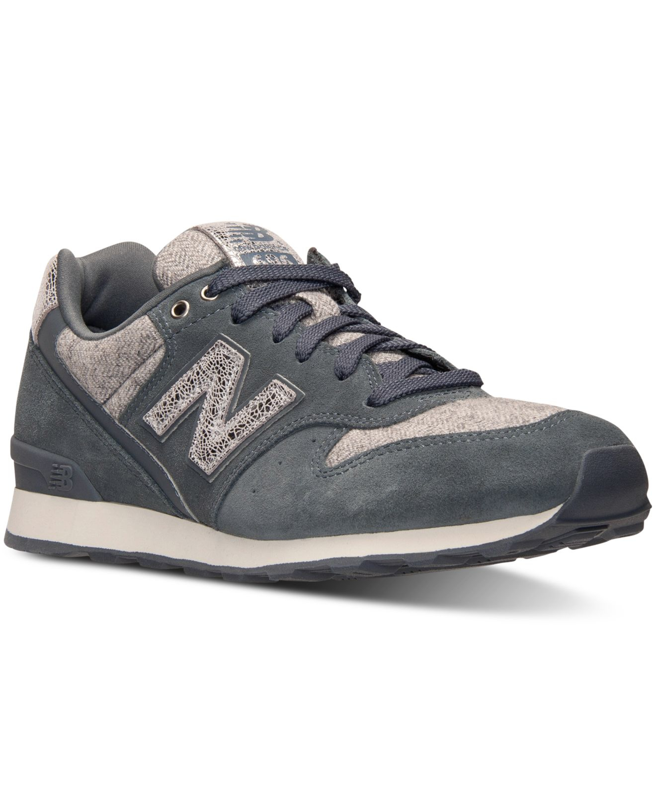 lyst new balance women 39 s 696 casual sneakers from finish line in gray. Black Bedroom Furniture Sets. Home Design Ideas